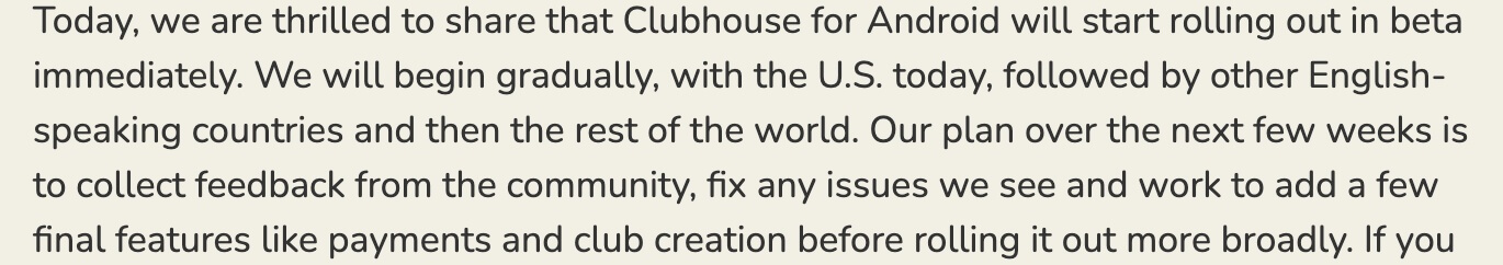 clubhouse official blog