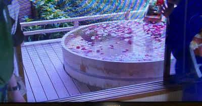 陣屋若紫に設置された露天風呂