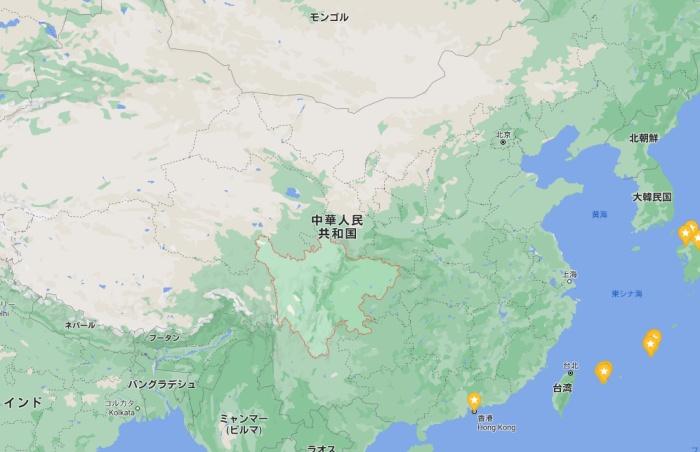 タイタニックレプリカ建設中の四川省の位置